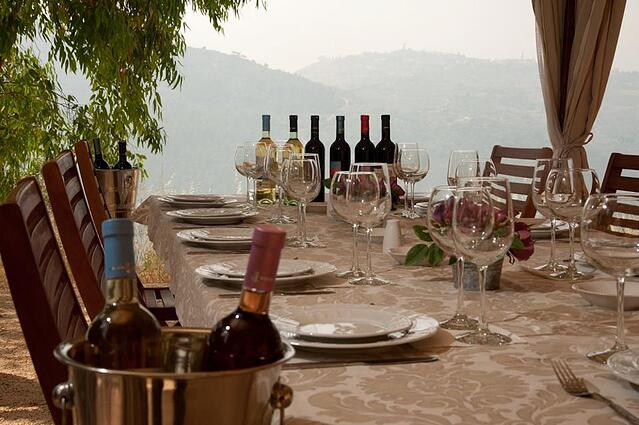 Karam wines are created with the ultimate destination of their wines in mind - table of food