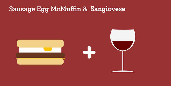 sausage egg mcmuffin and sangiovese